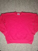 VINTAGE MENS LEE HEAVYWEIGHT COTTON BLEND SWEATSHIRT RED SIZE XL PULLOVER
