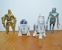 STAR WARS POTF2 C3PO R2D2 Action Figure Lot Droids 1995 R5D4 2-1B Kenner Vintage