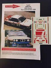DECALS 1/43 BMW M3 BILLY KARAM RALLYE TOUR AUTO DE NICE 1989 RALLY WRC