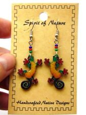 Spirit of Nature Earrings Lizard Gecko Southwest Chameleon Salamander Beads PE