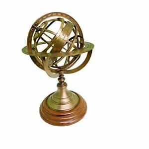 Quba Full Brass World Earth map Globe Home & Office Decor Item