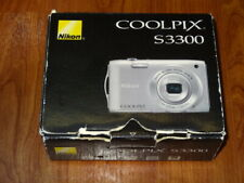 NEW in Open Box - Nikon COOLPIX S3300 16.0 MP Camera - SILVER - 018208263097