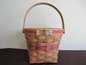 Vintage Christmas Collection 1988 Edition Longaberger Poinsettia Basket