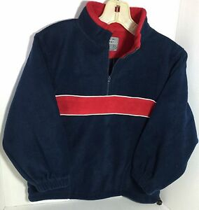New Boys Polar fleece Pull-over Size:7 Boys Half zip Mock neck