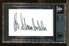 Bo Schembechler Signed Index Card 3x5 Autographed Michigan Beckett BAS *5838