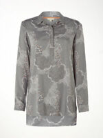 Ex White Stuff Ladies Grey Etta Floral Long Sleeve Shirt Blouse Size 8 - 18