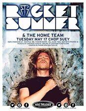 ROCKET SUMMER/THE HOME TEAM 2016 SEATTLE CONCERT TOUR POSTER-Alt./Indie/Pop Rock