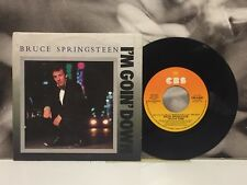 """BRUCE SPRINGSTEEN - I'M GOIN' DOWN / JANEY, DON'T YOU LOSE 7"""" 45 GIRI ITA 1985"""