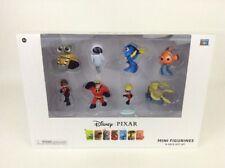 Disney Pixar Thinkway Toys 8 Piece Mini Figure Gift Set WallE Nemo Incredibles