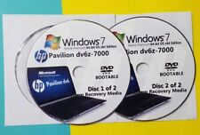 HP Pavilion dv6z-7000 Factory Recovery Media 2-Discs / Windows 7 Home 64-bit