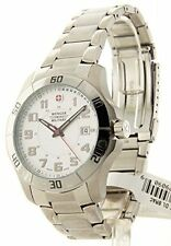Wenger Swiss Military Alpine Men's Stainless Steel Silver Dial Date Watch 79090