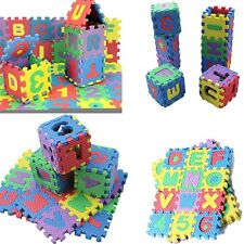 36 Blocks Puzzle Mat Learning ABC Alphabet Study Kids Letters Floor Play Toy FH
