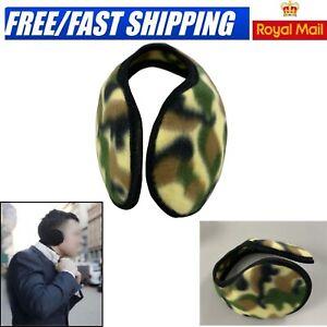 Soft Fleece Ear Muffs Cover Wrap Around Winter Warmer SKI Unisex One Size UK