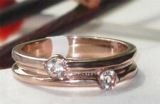 Rose Gold Simulated Round Costume Rings