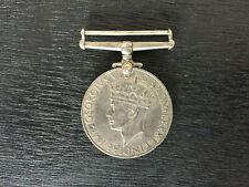 World War II Medal GEORGIVS VI D:G:BR:OMN:REX ET INDIAE IMP 1939-1945 Rare WWII