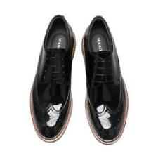 38-44 Men Low Top Real Leather Business Leisure Shoes Derby Work Office Carved L