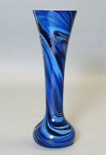 """Antique American 10"""" Art Deco Glass Vase by IMPERIAL  c. 1925  Blue White"""