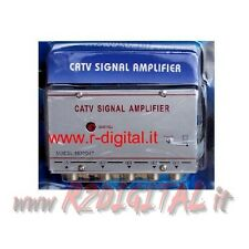 AMPLIFICATORE ANTENNA 220V SEGNALE 4 TV DVB-T DIGITALE TERRESTRE SDOPPIATORE