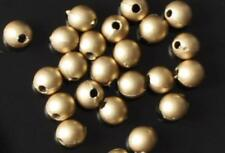 200 pcs acrylic beads, round, brass gold colour, 4 mm