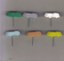 6 plastic speldjes bussen