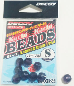 "Decoy Kachi Kachi Beads B-1 Size ""S"" Color #03 Purple"