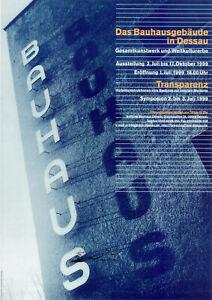 Plakat -  Bauhausgebäude in Dessau / Schriftzug / 1999 / F1