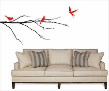 Birds on a Branch Wall Decal removable sticker art decor nature mural tree