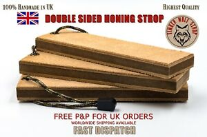 LEATHER HONING STROP (DOUBLE SIDED) **PREMIUM QUALITY 100% HANDCRAFTED**