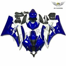 FT Fit for 2006-2007 R6 Yamaha YZF Blue White ABS Injection Molded Fairing s063