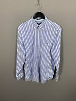 GANT OXFORD Shirt - Large - Striped - Great Condition - Men's