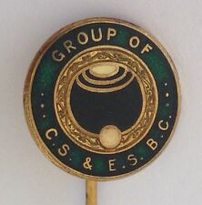 Group Of CS & ES Bowling Club Pin Badge Rare Lawn Bowls (L13)
