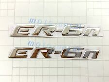 ER-6n Raised 3D Chrome Silver Decal Emblem Fairing Sticker Kawasaki ER6n Bling