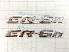 ER-6n Raised 3D Chrome Silver Decal Emblem Fairing Sticker Kawasaki ER6n Bling