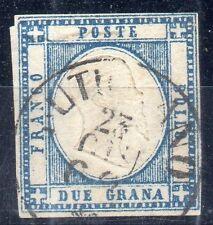 ANTICHI STATI FRANCOBOLLI 1862 PR.NAPOLI 2 GRANA ANNULLO DI RUTIGLIANO N° 6349