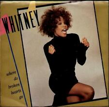 """WHITNEY HOUSTON Where Do Broken Hearts Go  7"""" Ps, Usa Issue, B/W Where You Are,"""