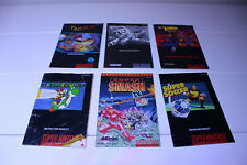 SNES Manuals Lot of 6 #2