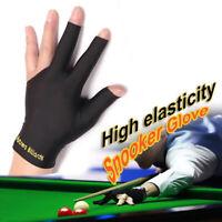 1Pc Spandex Snooker Billiard Cue Gloves Pool Left Hand Open Three Finger Glove