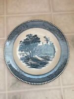 "Royal China Currier & Ives Saltbox House Homestead Bread & Butter Plate 7"" Wide"