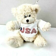 "Fiesta 8"" USA Sitting Cream Bear, Patriotic"