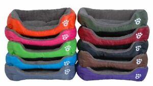 Soft Pet Dog Sofa Beds Waterproof Bottom Warm Fleece Inside House Bed With Paw