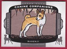 2018 Upper Deck Goodwin Champions Canine Companions Patch #Cc142 Basenji