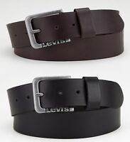Levi's Mens Branded 0026 & 0027 Brown & Black Genuine Leather Belts, BNWT