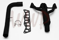 Black Performance Exhaust Header Manifold Kit System For 76-80 MG Midget 1.5L