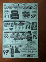 Lot of 6 Grocery Store Weekly Advertising Window Ad Display Poster Creede CO VTG