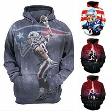 New England Patriots Player printed Pullover Pocket long sleeve Unsex Hoodie