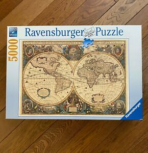 Ravensburger 5000 Jigsaw Puzzle ANTIQUE WORLD MAP, Henricus Hondi  #174119