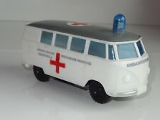 (S) OK Lucky Toys  Hong Kong PLASTIC VW VOLKSWAGEN SPLITTY AMBULANCE - 3357