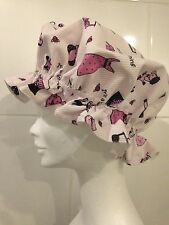 """Shower Cap Bath Hat """"It's a Girl Thing"""" Black & Pink on White. CHRISTMAS GIFT."""