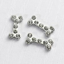 floating charm Knochen Strass Einleger