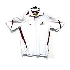 Nike Team Dri Fit University of Alabama SS Golf Polo White Size Medium Roll Tide